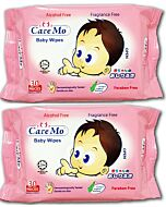 Care Mo Fragrance Free Wipes 30's x 2