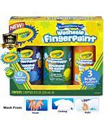 Crayola Washable Kids' Fingerpaints Bright Colors (3col x 236ml) - 10% OFF!!