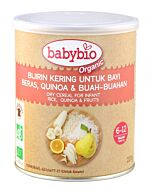 Babybio Dry Cereal for Infant (Rice, Quinoa & Fruits) 220g
