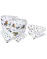 Bumble Bee: 7pcs Crib Bedding Set (Knit Fabric) - Fun Times - 40% OFF!