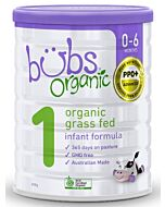 Bubs Organic Grass Fed Infant Formula *Stage 1* (0-6 Months) 800gm