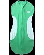 Gugu Premium Zipped Eyelet Swaddle - Green Plain