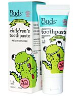 Buds Oralcare Organics: Children's Toothpaste Green Apple with Xylitol - 50ml (1 - 3 years) - 15% OFF!