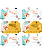 K-Mom : First Wet Wipes Hand and Mouth Baby Wipes 20pcs - [6 PACKS] - 26% OFF!!