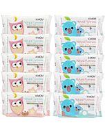 K-Mom: Naturefree Basic Baby Wet Wipes 100pcs X 10 PACKS