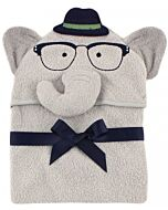 Hudson Baby: Animal Hooded Towel Embroidery (Smart Elephant) *00429* - 20% OFF!!