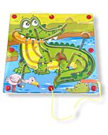 Funny Kid's: Animal Magnetic Maze - Crocodile - 10% OFF!!