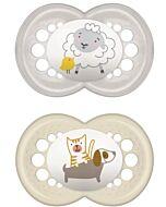 MAM Pacifier - ORIGINAL (16+months) Twin Set - Grey Sheep/ Dog - 10% OFF!!