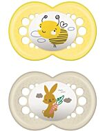 MAM Pacifier - ORIGINAL (16+months) Twin Set - Yellow Bee / Bunny - 10% OFF!!
