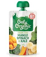 Only Organic: Mango, Spinach & Kale 120g (6+ Months) - 10% OFF!!