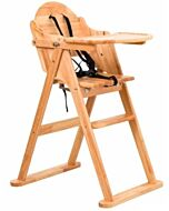 Funbies: Mike Foldable Wooden High Chair (Natural) - 8% OFF!!