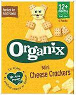 Organix Goodies Mini Cheese Crackers 4 x 20g (From 12+ Months)