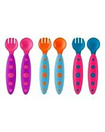 Boon: MODWARE Toddler Utensils 3Pack - Pink/Magenta, Orange/Blue, Blue/Pink - 15% OFF!!