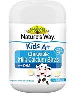 Nature's Way: Kids A+ Chewable Milk Calcium Bites Vanilla 120g (60 milk bites) - 13% OFF!!