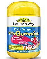 Nature's Way Kids Smart Vita Gummies Omega-3 DHA Fish Oil 60 Gummies (Improved Formula) - 41% OFF!!