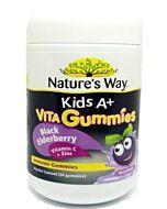 Nature's Way Kids A+ Vita Gummies Black Elderberry Vitamin C + Zinc 30s (64g) - 40% OFF!!