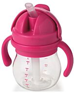 OXO TOT: Grow Straw Cup With Removable Handles (6oz/150ml) - Pink - 20% OFF!