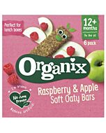 Organix Goodies Raspberry & Apple Soft Oaty Bars 6 x 30g (12+ Months)