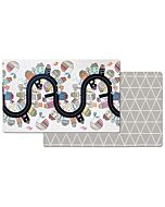 Skip Hop: Doubleplay Reversible Playmat- Vibrant Village / Sketch Triangle - 20% OFF!!