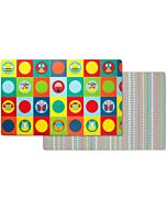 Skip Hop: Doubleplay Reversible Playmat- Zoo / Multi Dots - 20% OFF!!