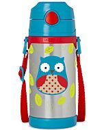 Skip Hop: Zoo Insulated Stainless Steel Straw Bottle (12.2oz/360ml) - Owl - 20% OFF!!