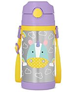 Skip Hop: Zoo Insulated Stainless Steel Straw Bottle (12.2oz/360ml) - Unicorn - 20% OFF!!