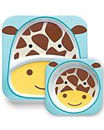 Skip Hop: Zoo Melamine Plate and Bowl Set - Giraffe - 15% OFF!!