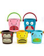 Skip Hop Zoo Stack & Pour Buckets (5pcs) - 20% OFF!!