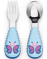 Skip Hop: Zootensils Fork & Spoon Set - Butterfly - 16% OFF!!