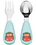 Skip Hop: Zootensils Fork & Spoon Set - Hedgehog - 16% OFF!!
