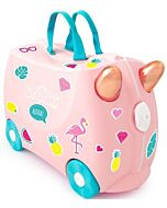 Trunki Ride-On Little Luggage for Little People - Flossi the Flamingo - 15% OFF!