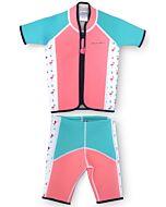 Cheekaaboo Twinwets Suit - Salmon Pink / Flamingo - S (2-3y) - 20% OFF!!