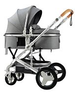 CHILUX V1.6 Multifunctional Stroller (0-3 years) - Gray