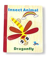 Funny Kid's: Wooden Book Puzzle - Insect Animals - 10% OFF!!