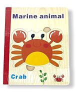 Funny Kid's: Wooden Book Puzzle - Marine Animals - 10% OFF!!