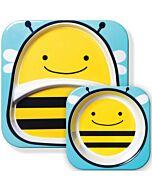 Skip Hop: Zoo Melamine Plate and Bowl Set - Bee - 15% OFF!!