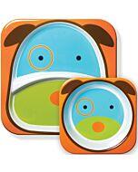 Skip Hop: Zoo Melamine Plate and Bowl Set - Dog - 15% OFF!!