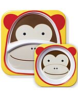 Skip Hop: Zoo Melamine Plate and Bowl Set - Monkey - 15% OFF!!