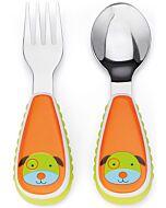 Skip Hop: Zootensils Fork & Spoon Set - Dog - 16% OFF!!